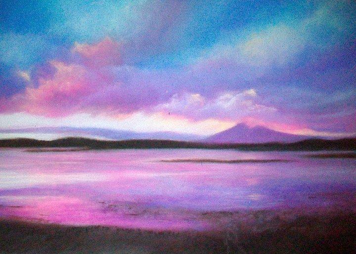 Fox Bay Falklands, Pastel & Mixed Media, 65 x 45 cm (SOLD)