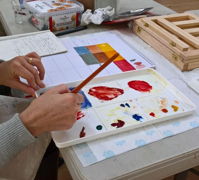 Colour mixing lessons