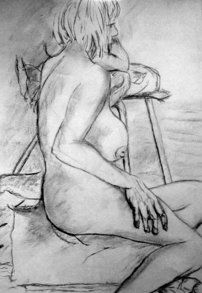 Seated Female Nude Study