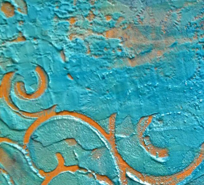 Stenciled Light Moulding paste & Paint