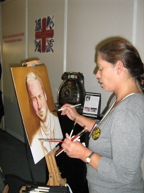 Painting Prince William at Event City in Manchester 2012