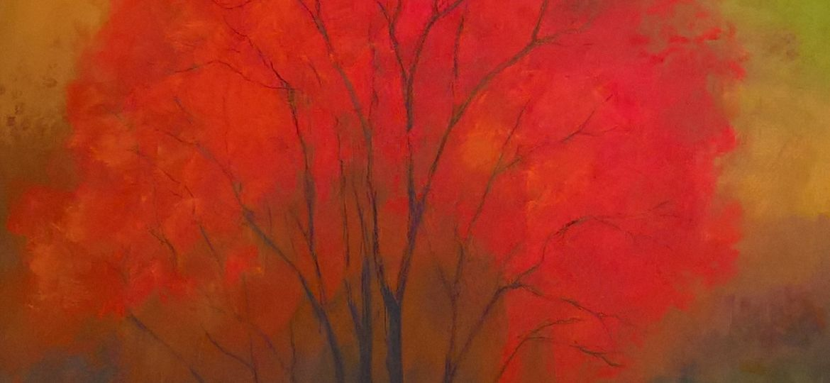 Autumn Fire, Pastel on Board, Copyright @2017 Midge ACE (SOLD) (Demo)